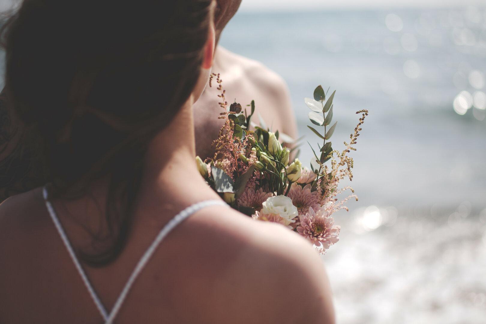 bouquet  sur la plage