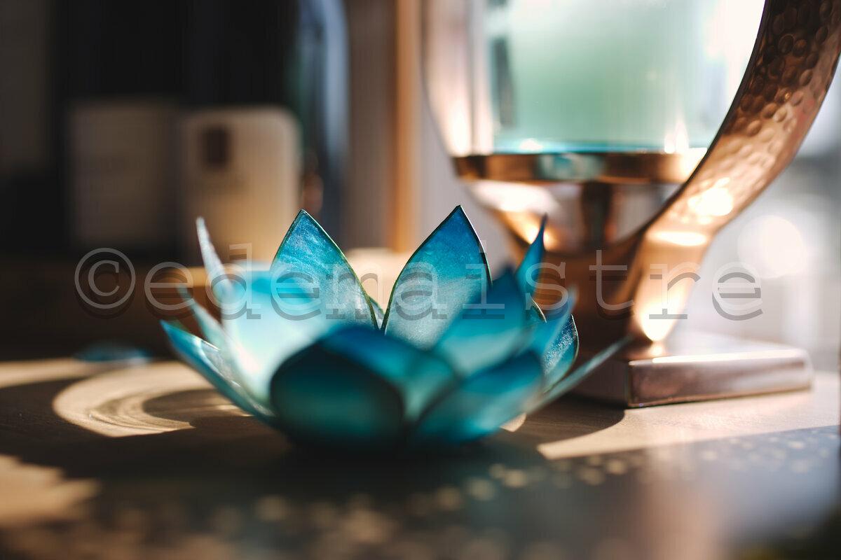 décoration florale turquoise